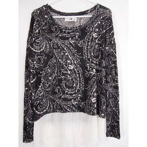 Abercrombie & Fitch Layered Sweate Paisley Top